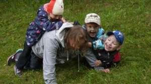 Sveta playing with the children