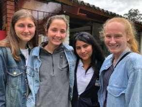 Vincent's daughters volunteered for 2 weeks.