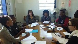 YEP Leadership Team prepares for initial meeting.
