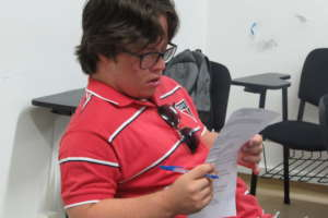 Guilherme studying at the Center