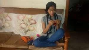 Anitha at work...1