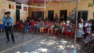 Participation of kids in Khmer New Year Party