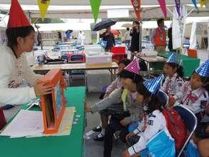 She sometimes has workshop for children.