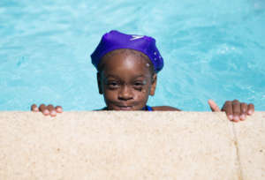 Elidania during swim class