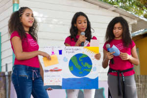 Environmental activists promote clean waterways!