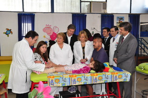 President Bachelet, Dr Jorge Rojas, and patient