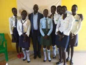 Daniel with Lion Group - South Sudanese Scholars
