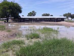 Sunlight Primary School in Bor inundated by floods