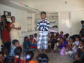Raguvaran singing a song