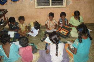 Poonjolai Children Studying