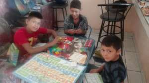 Children with didactic games