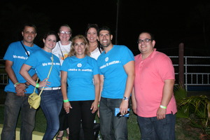 Volunteers from Hewlett Packard and our President