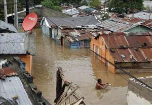 Flooding from Hurricane Sandy in Haiti