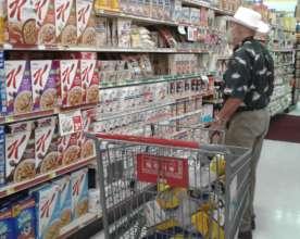 Participant at supermarket