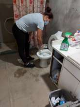Housekeeper cleaning for participant