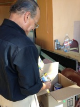 Elderly who received emergency groceries