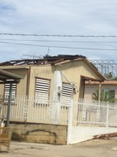 Participant lost his house roof