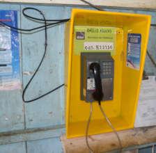 18. Public phone in Brillo Nuevo
