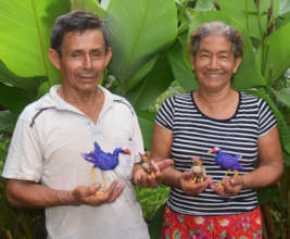 Jorge and Romelia with purple gallinules and owls