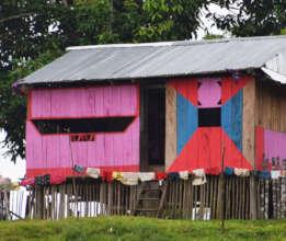 7. Pink house near Pebas