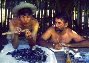 Campbell sorting resin lumps in Brazil in 1998