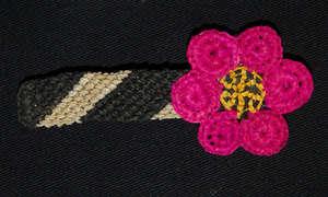 Amazon flower design woven hair barrette
