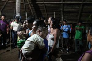 Bora people at festival in community maloca