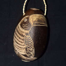 Toucan calabash pod ornament / Plowden-CACE