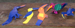 First round of toucans made by individual artisans