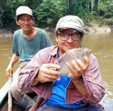 Italo and Tulio fishing near the Ucayali River