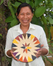 Artisan Yoli from Amazonas with chambira basket