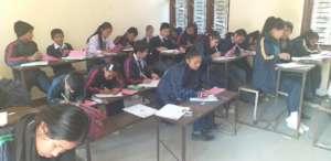 Kids attending final exam