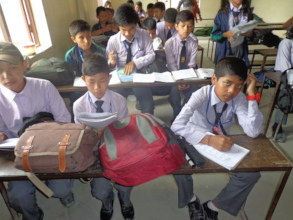 Students attending their class