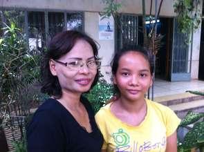 Sokchhouen and one of the girls