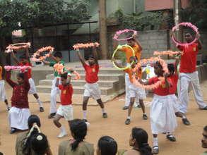 SIS children Celebrating Independence India