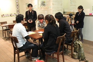Volunteers interviewing in Ishinomaki