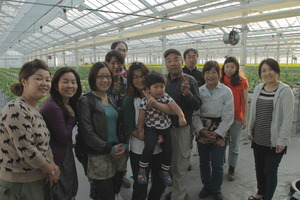 Project Volunteers with family from Watari