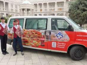Tajikistan's first mobile food van