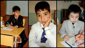 Children with autism at school for the first time
