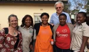 Jane, Chibale, Simon and the Chilanga Clinic team