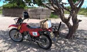Nyambe's trusty motorbike