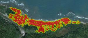 Figure 3: Building Density in Anse a Foleur