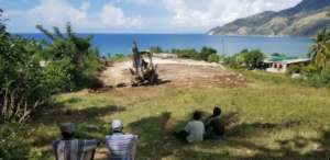 Site leveling work in Tiburon
