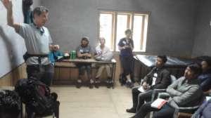 Dr. Steven Zabin teaching village health providers