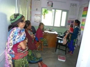 Patients waiting to be examined