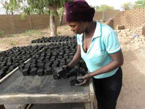 Briquettes are laid out to dry