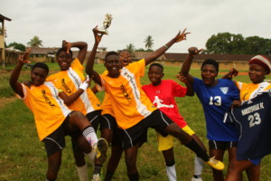 Girls league champs in Kumba!