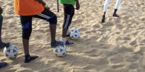 In Senegal, you play in whatever shoes you have!