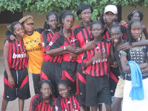 Kaolack village girls' team