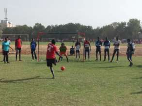 Penalty Kick in the Thies Girls' Tournament